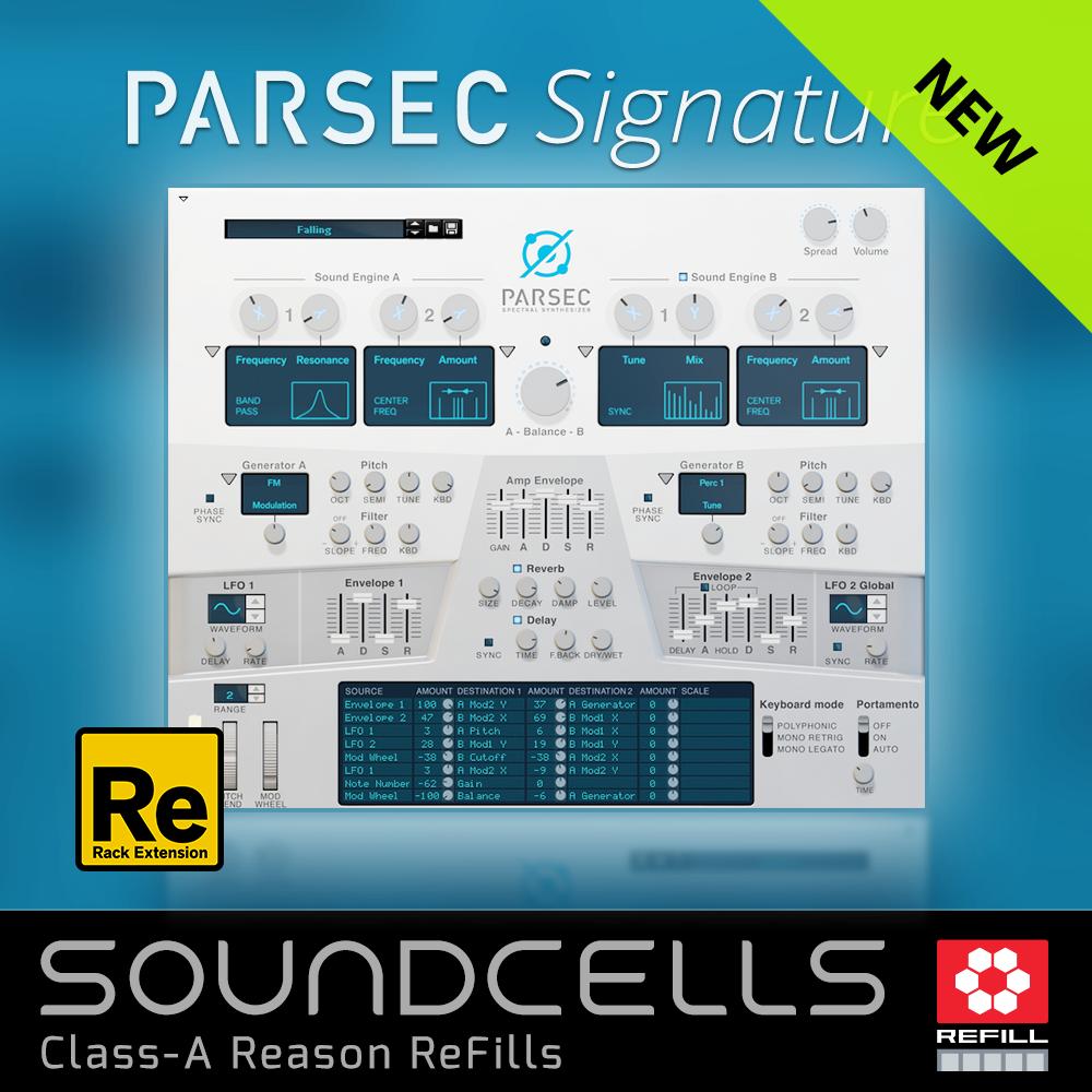 New Soundcells ReFill - Parsec Signature - ReasonTalk com